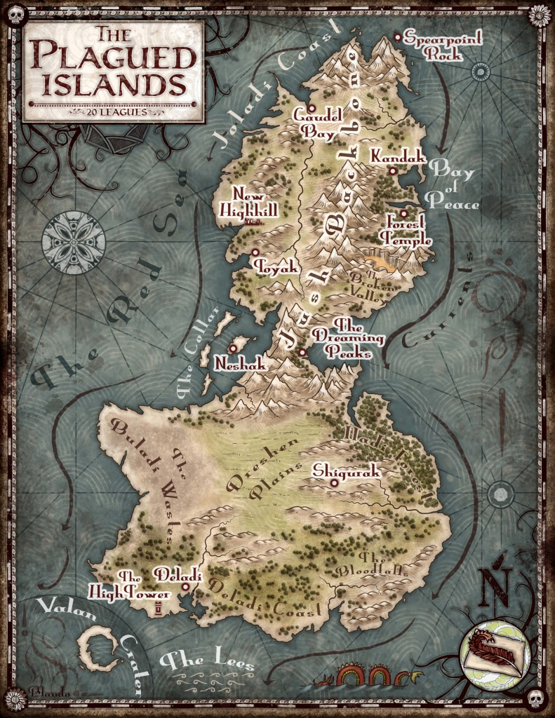 Map of the Plagued Islands